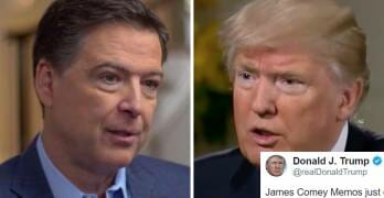 Trump's Furious Late-Night Tweets Show Just How Much Comey's Memos Scare Him